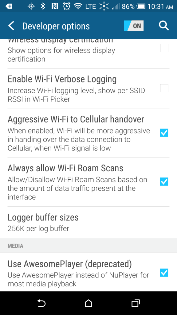 Aggressive Wi-Fi to Cellular handover