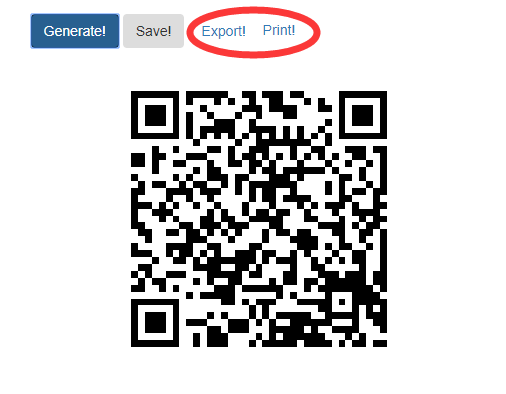 Share WiFi QR code with others