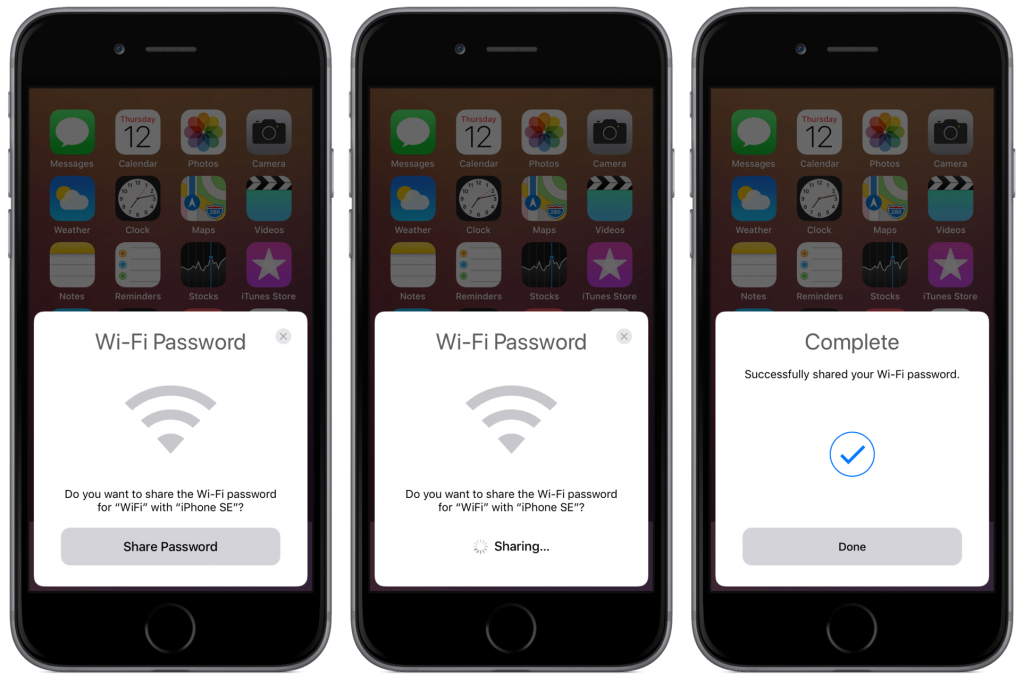 Share WiFi without Password on iOS